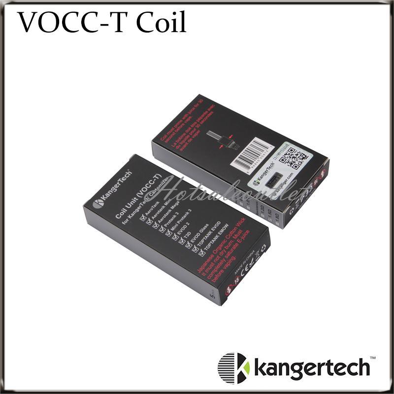 Topevod Kiti VOCC T Bobinleri Için Kanger VOCC-T Bobin Fit Tüm Kanger Çift Bobin Üniteleri Genitank Mini Protank 3 EVOD Cam Atomizörler 100% Orijinal