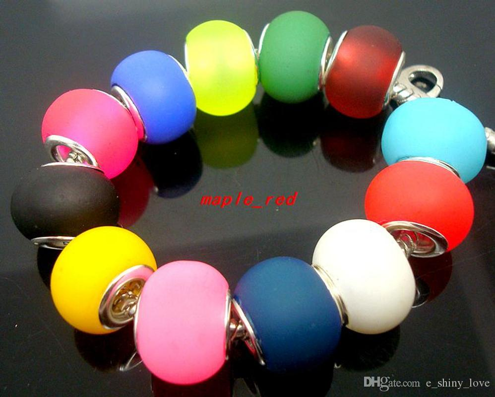 50 pçs / lote misturado puro cor Murano contas de vidro para fazer jóias Solta Lampwork encantos DIY Beads para pulseira atacado a granel baixo preço