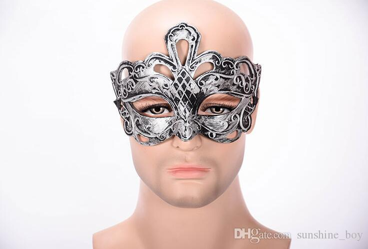 Hollow FLOWER crown Ancient Rome Retro Jazz Mask Design Party Mask Halloween Masquerade Mask for Man woman Cosplay Props