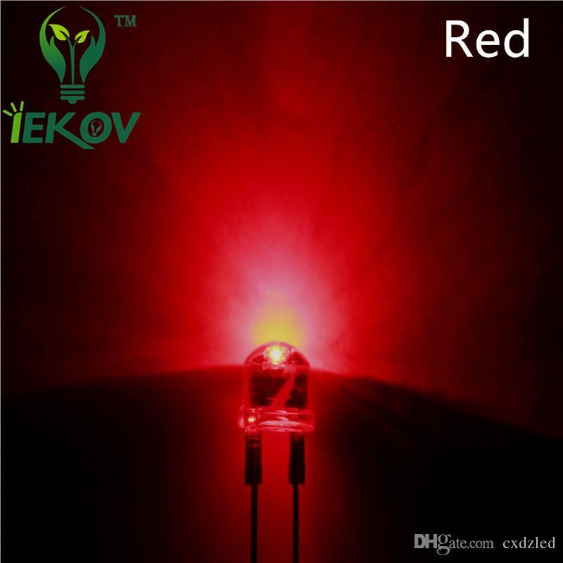 de alta calidad de 8 mm 0,5 W sombrero de paja de alta potencia LED rojo claro F8MM LED ultra brillante componentes electrónicos al por mayor de diodos emisores de luz