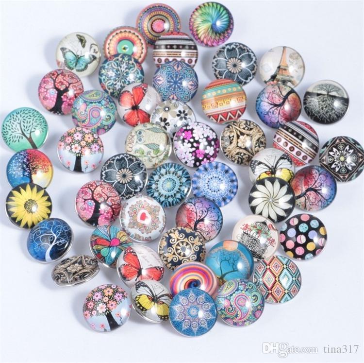 Großhandel - Noosa Button 18mm Baum des Lebens Button DIY Armband Anhänger Glas Button direkt ab Werk 4052