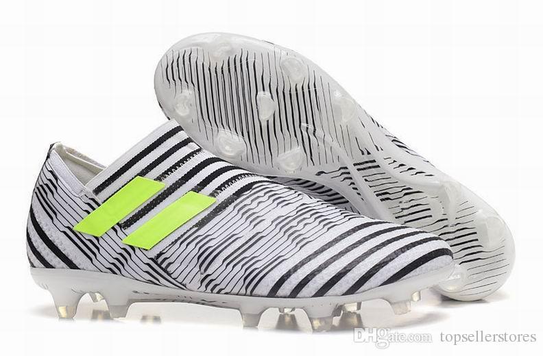 17868de46afc Satın Al Yeni Çizmeler ACE Nemeziz 17 + Purecontrol Erkek Ayakkabı ACC  Nemeziz 17.1 FG Ayakkabı Yüksek Çizmeler Futbol Çizmeler Laceless Cleats,  ...