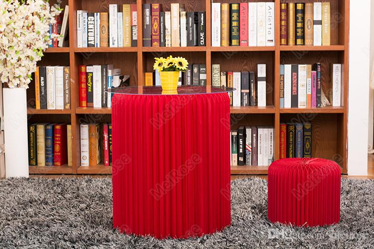 H50xDia56cm 혁신적인 가구 팝 - 작은 테이블 라운드 실내 Teatable 방수 아코디언 스타일 크래프트 작은 표 71-1025 협상