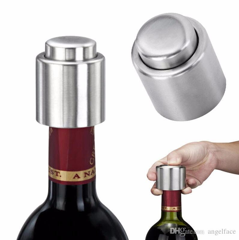 Stainless Steel Vacuum Sealed Red Wine Bottle Spout Liquor Flow Stopper Pour Cap Wine Bottle Stopper Oxygenating Bar Kitchen Tools