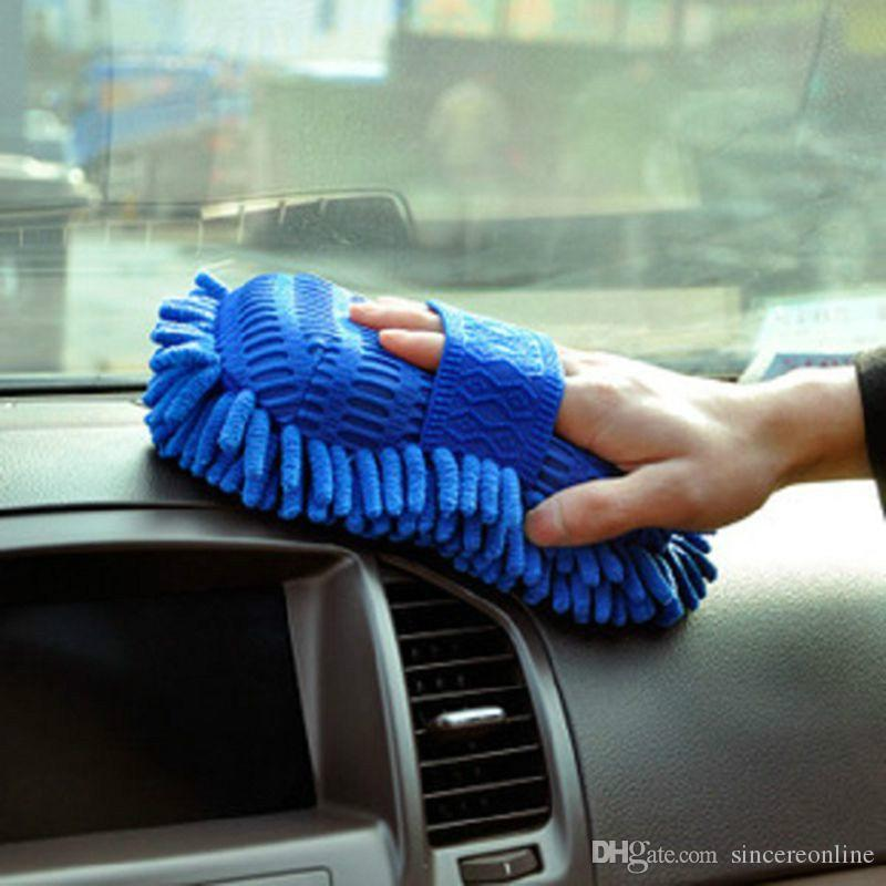 Car Wash Gloves Cleaning Sponge Car Window Auto Cleaning Ultrafine Fiber Chenille Anthozoan Washer Sponge Brush