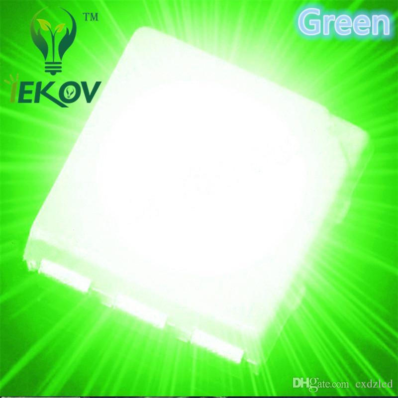 High Quality PLCC-6 5050 SMD Green led Super Bright Light Diode 3.0-3.2V For Bike DIY SMD/SMT Chip lamp beads