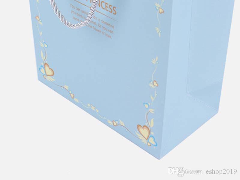 3 أحجام حزم هدايا الأميرة الأزرق والوردي أكياس هدايا رائع وأكياس التعبئة والتغليف قسط جعل المنتج أكثر جمالا