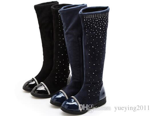 Nouveaux enfants chauds bottes d'hiver chaud d'hiver imperméable à l'eau chaude garçons et filles bottes autocollant magique chaussures enfants