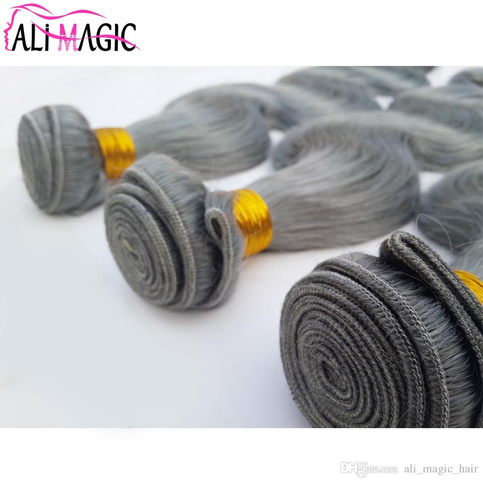 La trama brasiliana dei capelli umani al 100% tesse 3 fasci di onde del corpo non trasformate