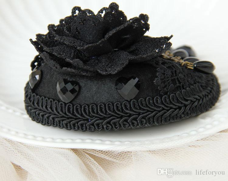 wedding hair clips Fascinator Wedding hair pin black Flower Hair Accessories Bridal Head Hats For Christmas Wedding Party dress Vintage