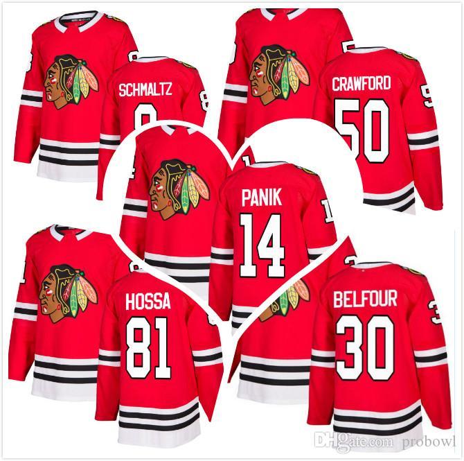 Star Cheap 2018 Mens AD Richard Panik 81 Marian Hossa Jersey Corey Crawford  Nick Schmaltz 30 Belfour Chicago Blackhawks Hockey Jerseys RED Hockey Jersey  ... ae08ad66c