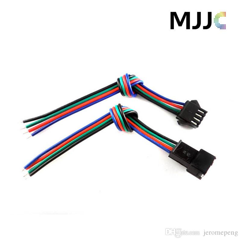 Jst male female led connectors with 15cm 4pin 22awg rgb cable wire jst male female led connectors with 15cm 4pin 22awg rgb cable wire on one side for 3528 5050 rgb led light strips led strip connector rgb led connector 4pin aloadofball Image collections