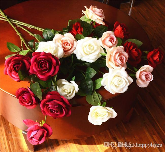 Discount 21 small head rose artificial flower splastic flower head discount 21 small head rose artificial flower splastic flower head flower buds simulation plastic fake rose wedding store home decor silk flower from china mightylinksfo Image collections