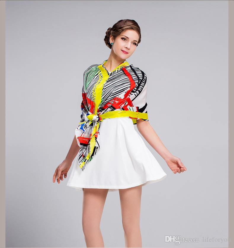 Silk women girls long Scarves snoods Boa Top Fashion decorations Spring Autumn Wrap Scarf Shawl Scarves neckerchief muffler Bandanna