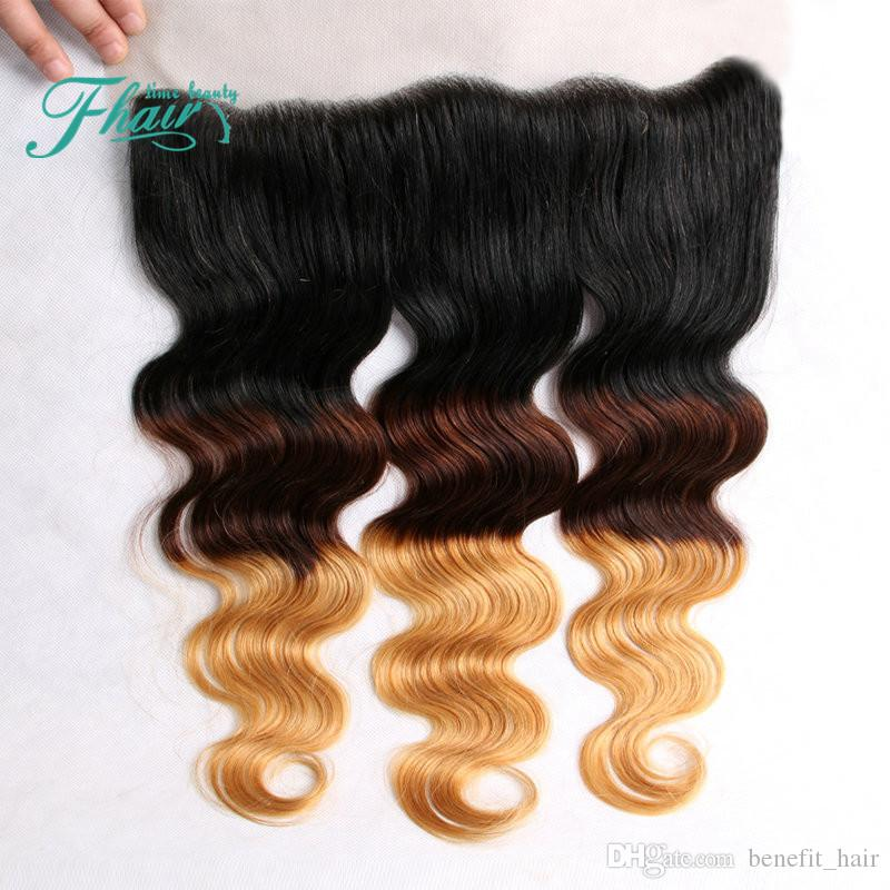 Halo Lady Ombre Hair Extensions 1b 4 27 Brazilian Ombre Full Frontal