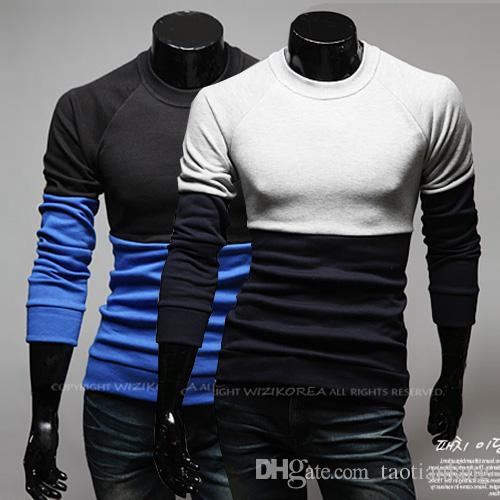 Long Sleeve Brief British Polo Pullover Round Neck Pancelled Solid ...