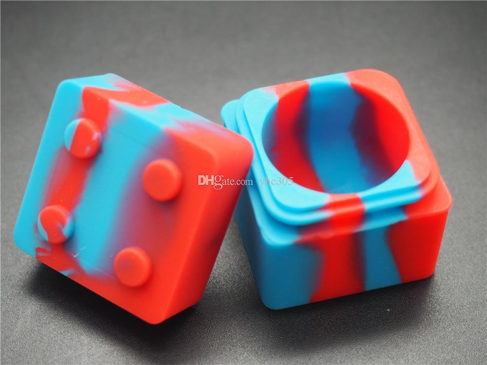 10 unids / lote colorido contenedor de concentrado de silicona tarros antiadherentes colores surtidos