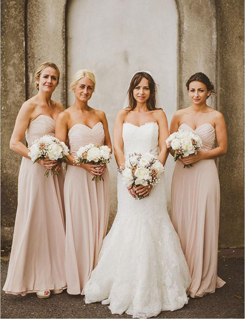 Hot sale cheap chiffon bridesmaid dresses long 2016 sweetheart hot sale cheap chiffon bridesmaid dresses long 2016 sweetheart zipper ruched a line wedding party gown bride formal wear prom evening dress discount ombrellifo Image collections