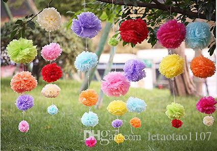 Colorful tissue paper flower ball carft paper flower pom poms for colorful tissue paper flower ball carft paper flower pom poms for wedding birthday christmas party decoration home ornaments room decoration do it yourself mightylinksfo