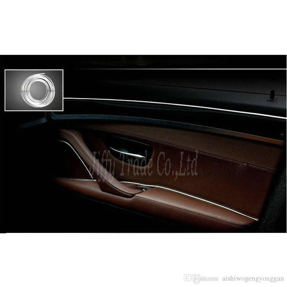 Nuovo 4M x 6MM DIY Car Styling Chrome modanatura Trim Strip decorazione argento Sticker