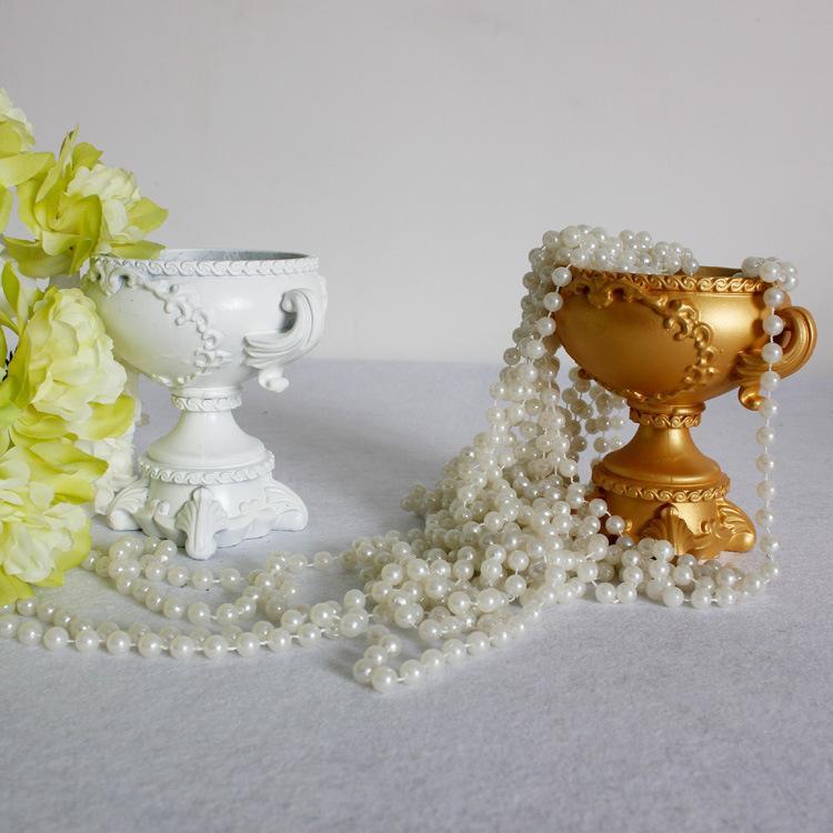 Neue Check-in Counter Hochzeit Requisiten Dekorative Einrichtungsartikel Kunststoff Europäische Blumen Utensil Road Led Blumentopf 2 Farbe
