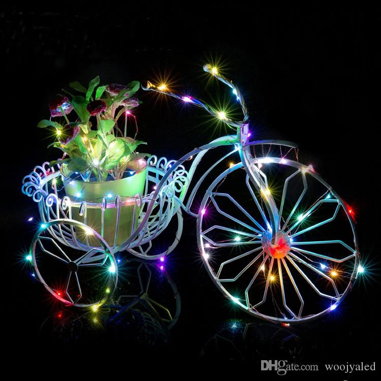 Natal 10 M 100 leds Fio De Cobre LEVOU Luz Da Corda Com adaptador de Energia DC 12 V 1A Fada Corda Luz XMAS Decoração Do Casamento Do Partido