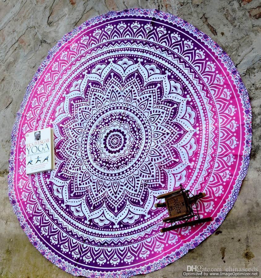 Dhl Send Cheappest 2016 Round Beach Blanket 150cm Large
