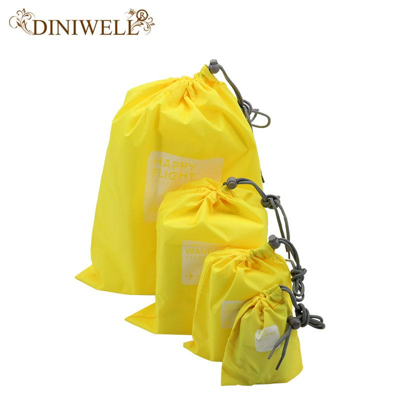 1c3f871d8a1d8 Wholesale- DINIWELL 4x Waterproof Travel Drawstring Dry Storage Bag Shoe  Laundry Lingerie Makeup Pouch For cosmetics Underwear Organizer