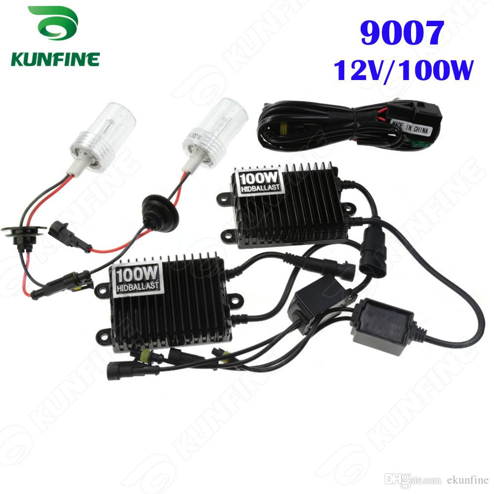 12V 100W Xenon Headlight 9007 HID Conversion Kit Car Light With AC Ballast For Vehicle KF K2002 Hid Cars