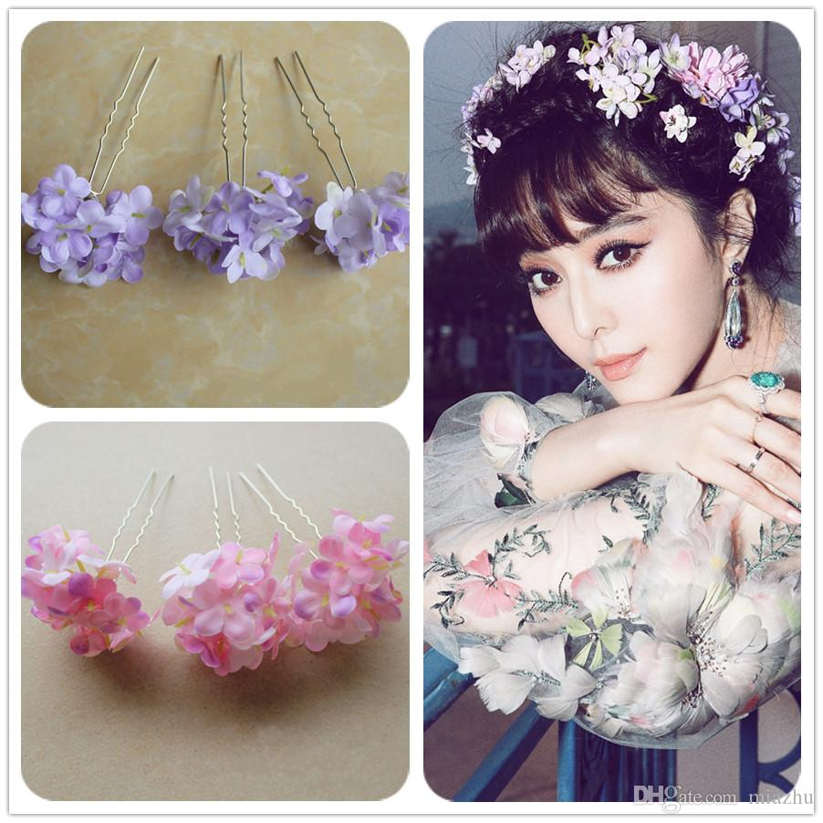 2018 2016 fashion design married hair jewelry silk wedding bridal 2018 2016 fashion design married hair jewelry silk wedding bridal flower hair pin artificial flower hydrangea hair stick hair accessories from miazhu izmirmasajfo