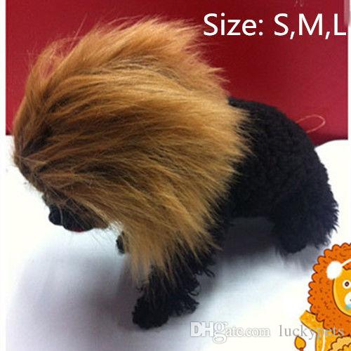 4Size Pet Dog Cat Lion Wigs Mane Hair Festival Party Fancy Dress Clothes Costume Halloween Costume