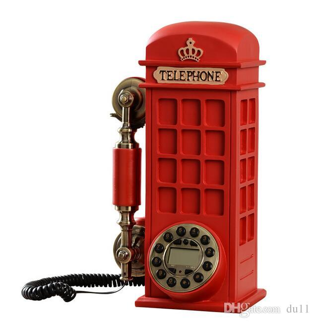 Retro phone fashion creative, wall hanging personalized home new European style antique rotary disk telephone