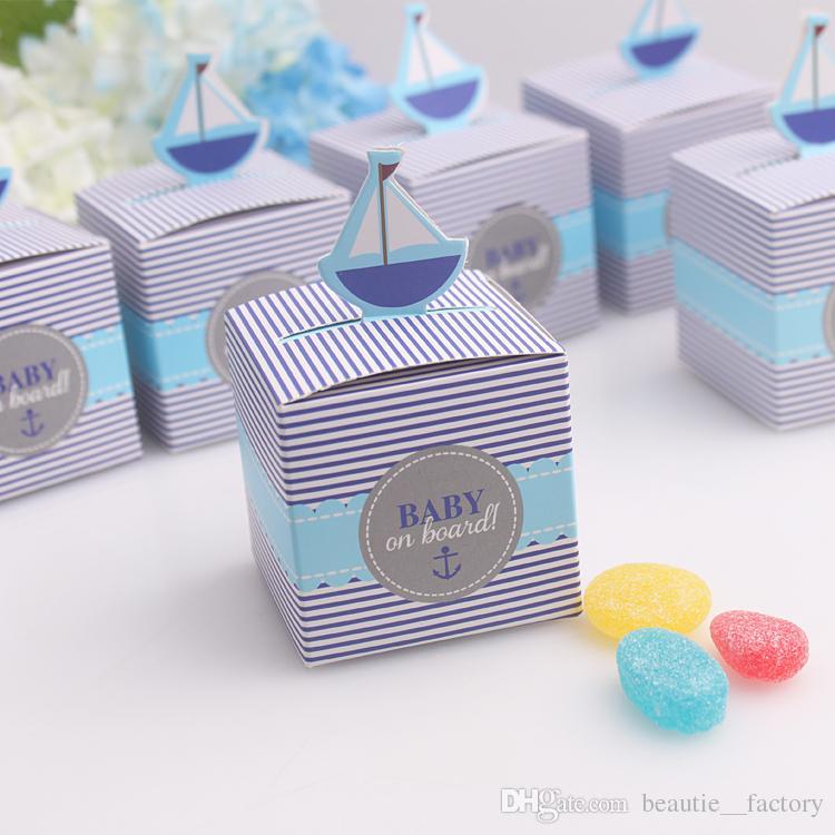 Bébé à bord Box Candy Baby Douche Garçon Boyon Boîte de chocolat Coffret unique et beau