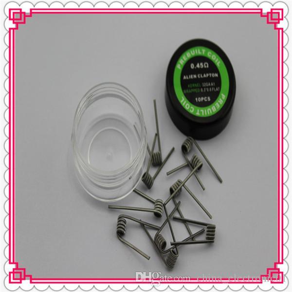 Vorgefertigte Alien Spule Widerstand 0,45 Ohm 0,3 * 0,8 + 32GA Widerstand Draht Alien Draht elektronische Zigarette DHL geben frei