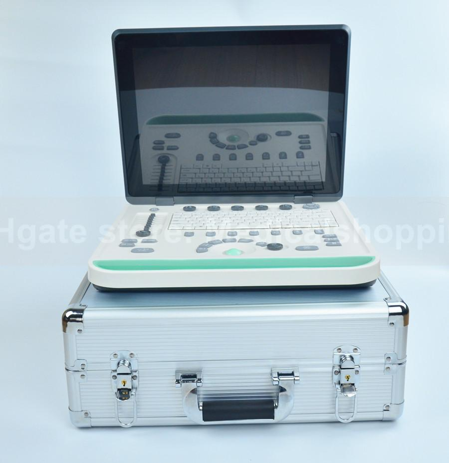 DHL multi-languages animal ultrasound scanner 3D software black and white 15in LCD with any one probe pc system