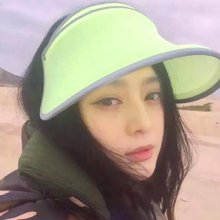 f2e6145290a9 Candy Colors Sun Visors Fashion Unisex Men Lady Wide Brim Hats Sun ...