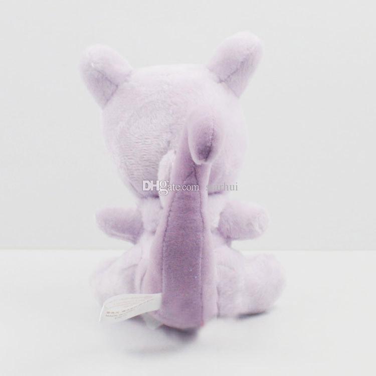Plüsch-Puppe spielt Mewtu gestopfter weicher Plüsch-Puppe-Spielwaren-Taschen-Monster füllte Karikatur-Tier-Abbildung Spielzeug-Weihnachtsgeschenke EMS 14cm 5.5inch WX-T58 an