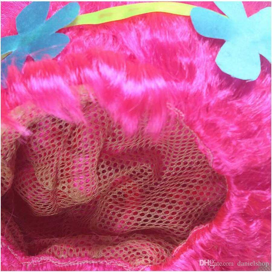 Fashion Children Magic Wizard Wig Pink Princess Wigs Children Short Horsetail Wigs