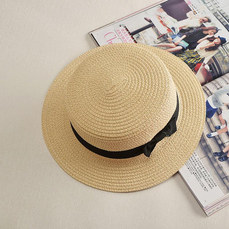 Wholesale Summer Style Fashion Small Straw Hat For Women Cute Women S  Travel Straw Hat Sun Hats Flat Top Straw 2017 Free Delivery Crazy Hats  Fishing Hat ... d50e16615403