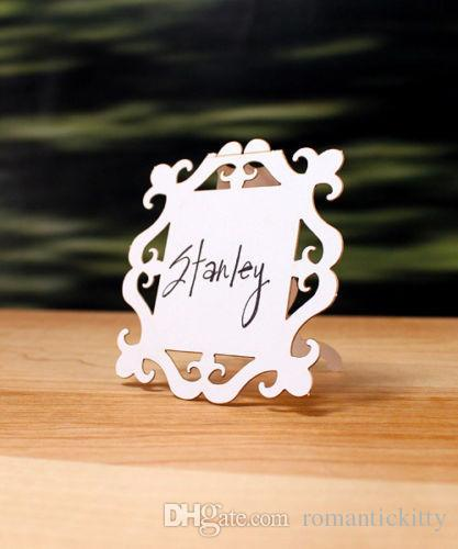 wedding reception party baroque frame folded place cards birthday bridal shower party seating markers custom colors kids birthday party favors kids birthday - Folded Place Cards