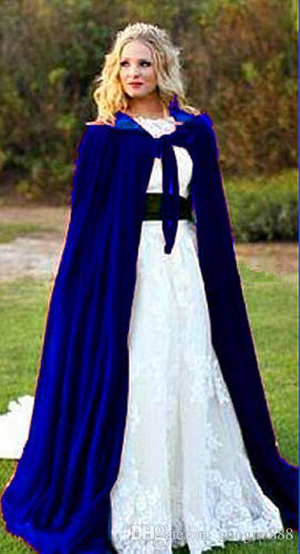 Wedding Cloak Velvet Mantello Gothic Wicca Robe Mode Medieval Witchcraft Larp Cape Women Women Giacche da sposa Involucri cappotti