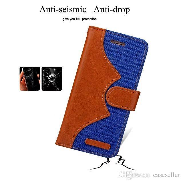 Cowboy Wallet Leather TPU Stand Flip Funda de cuero con estuche para portatarjetas para iphone 7 iphone7 plus con marco de fotos