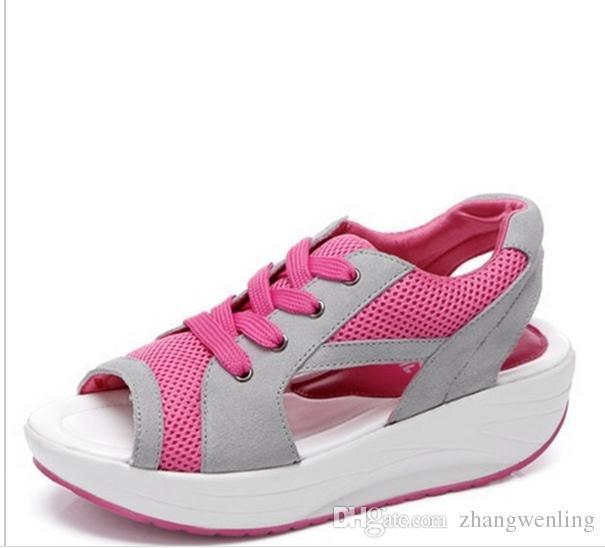 Mode Perte Poids Femmes Chaussures Printemps Eté Automne Swing Femme Respirant Chaussures De Mesh Femmes Casual Chaussures 3 Couleur
