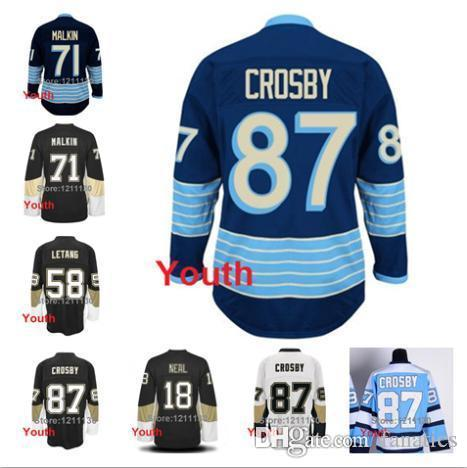 2016 Pittsburgh Penguins Youth Jersey  87 Sidney Crosby 18 James Neal 71  Evgeni Malkin 58 Kris Letang Children Kid Ice Hockey Jerseys UK 2019 From  Fanatics 597af4b9c