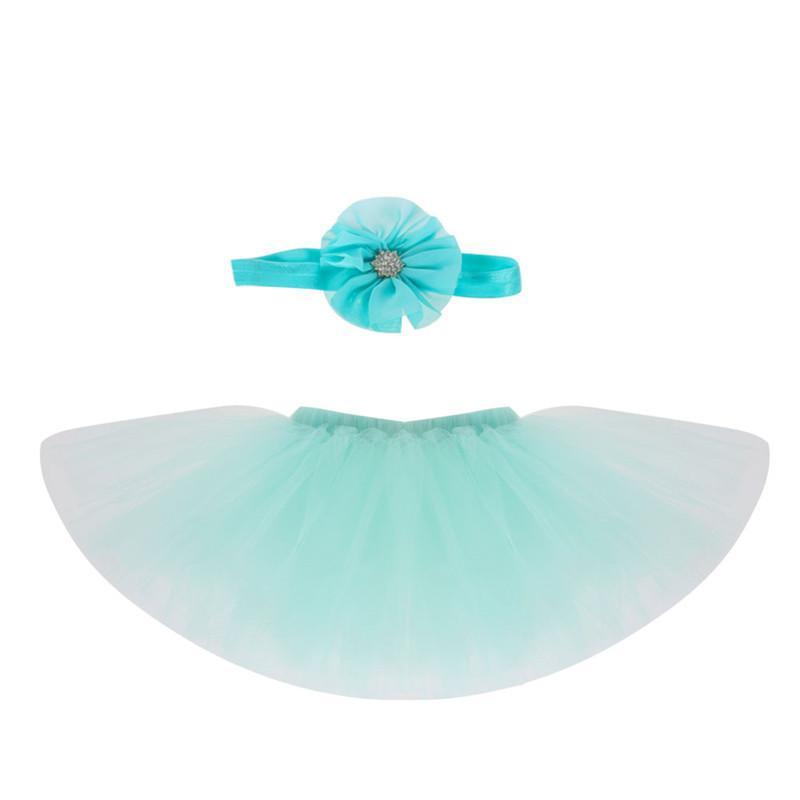 Nouveau-né Photographie Props Doux Design Accessoires Photo avec Bandeau Bébé Infant Costume Costume Princesse Tutu Jupe Robe D'été