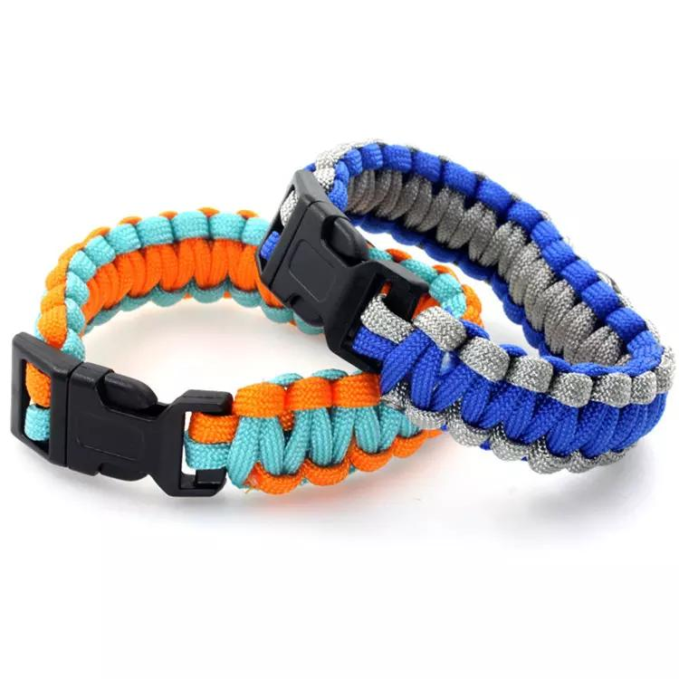 Mix Styles Diabetic Type 1 Paracord Survival Bracelets Hope Ribbon Custom Made Outdoor Sprot Camping bracelet