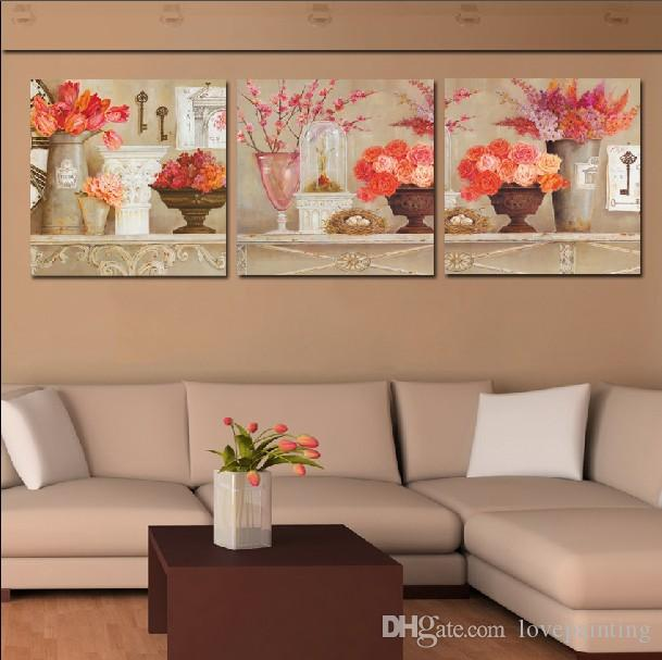 2017 Wall Picture Unframed Living Room Canvas Prints Potted Flower Cartoon  Tulips Rose Peony Lotus Leaf Petal Fish Tree From Lovepainting, $25.08 |  Dhgate. Part 57