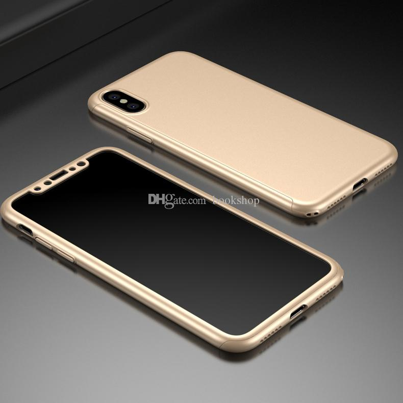 2017 For iPhone 8 360 Degree Cover Ultra Thin PC Matte Hard Colorful Full Body Protective Case