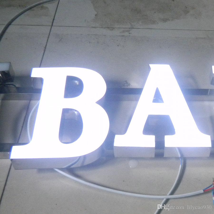 Electronic Signs New Product Resin Frontlit Illuminate Led Letter Sign
