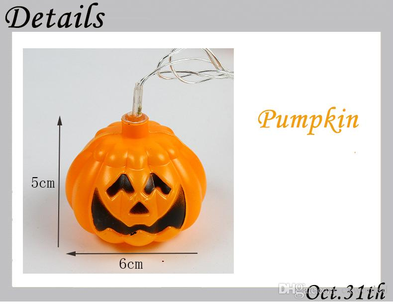 Halloween LED pumpkin string light colors ghost string for home decoration 220V or 110v power supply 13feet 16lights